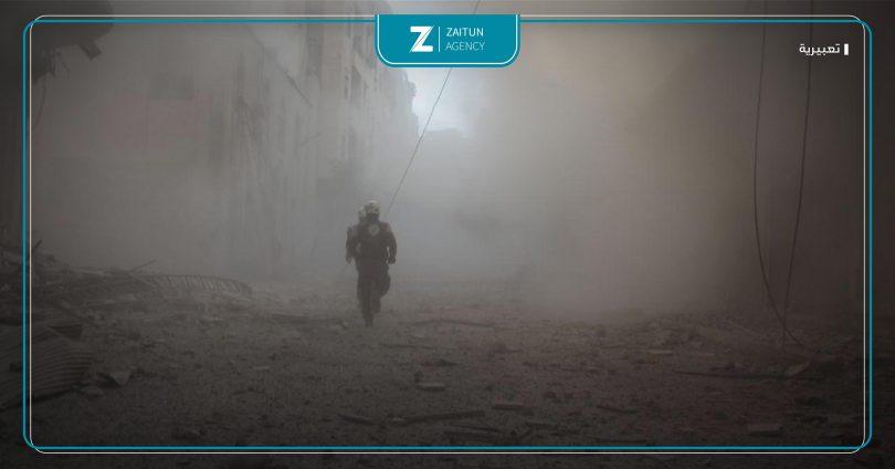 قصف دمار دفاع مدني إدلب