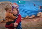 مخيم أطفال مساعدات فقر أوضاع صعبة مخيمات خيم مهجرين نازحين