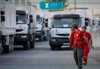 مساعدات إنسانية الأمم المتحدة الهلال الأحمر السوري قوافل