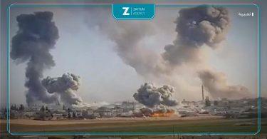 قصف غارات روسيا قصف روسي دخان شهداء جرحى