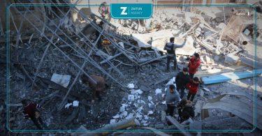 مجزرة إدلب قصف غارة روسيا طائرة طائرات نظام الأسد دمار شهداء جرحى