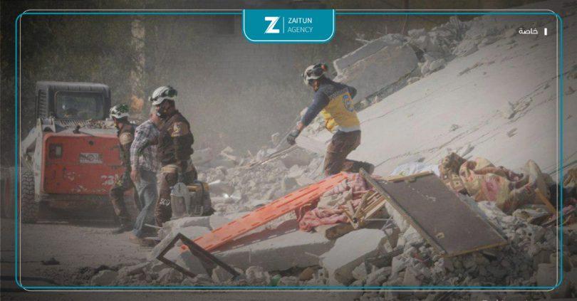 الدفاع المدني دفاع مدني قصف