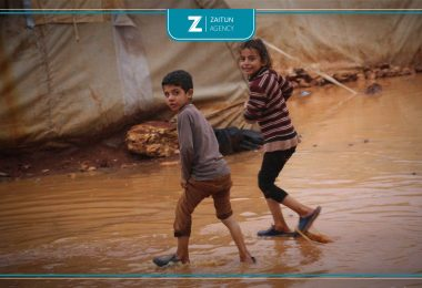 مخيم مخيمات أطفال مطر أوضاع صعبة خيم