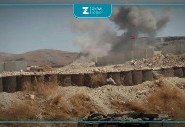 قصف نقطة تركية