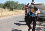 جرحى مدنيون قصف دفاع مدني