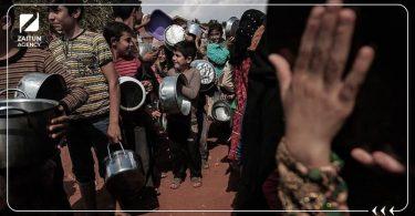 جوع أطفال مخيم مخيمات خيم فقر