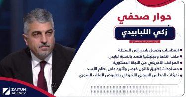 حوار صحفي زكي اللبابيدي