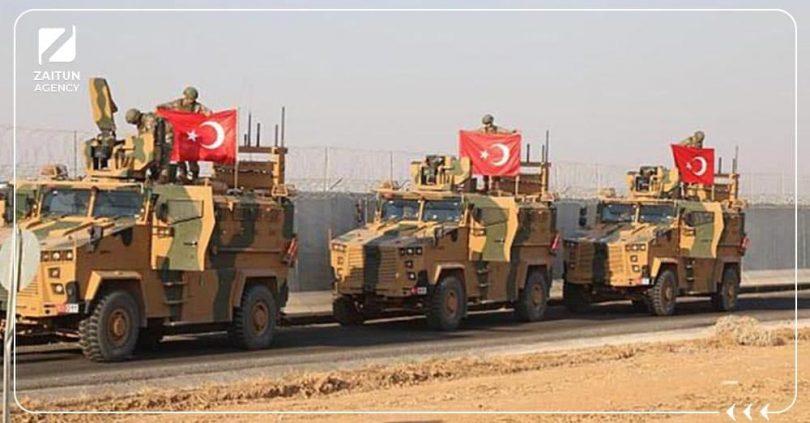 دورية عربة تركية رتل عسكري الجيش التركي