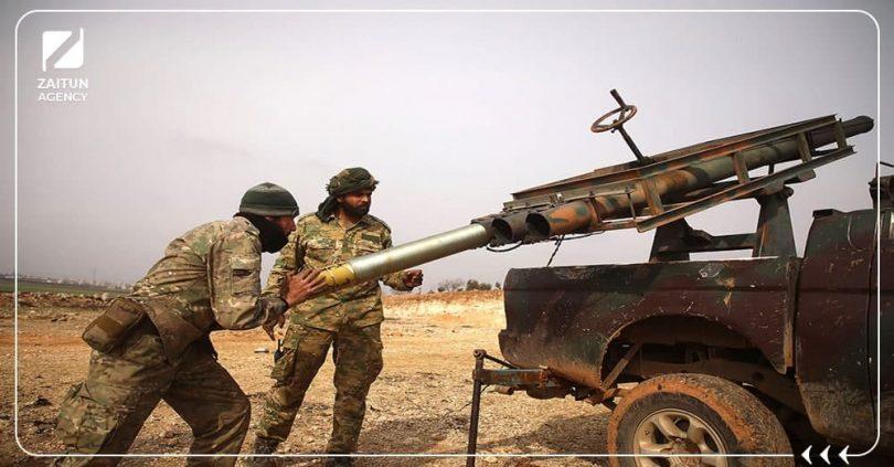 قصف ثوار فصائل الثوار الجيش الوطني السوري