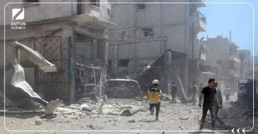 قصف دمار دفاع مدني الدفاع المدني