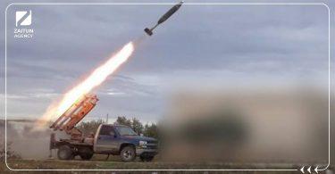 راجمة صواريخ فصائل الثوار قصف الجيش الحر