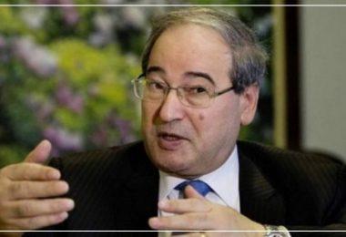 فيصل مقداد وزير الخارجية السوري