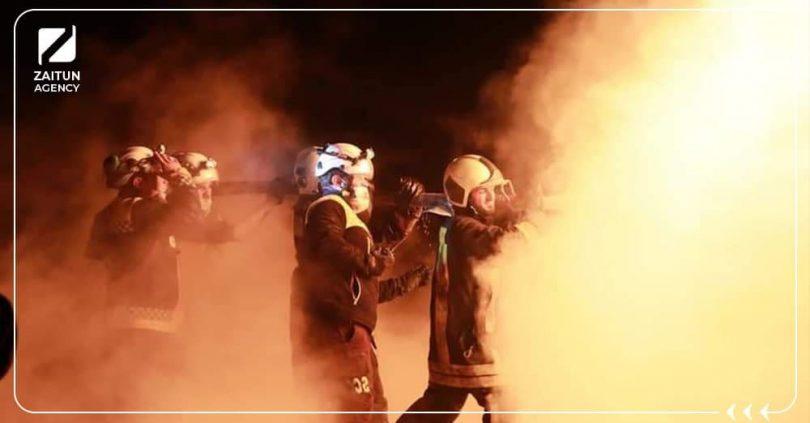 دفاع مدني حريق ترحين